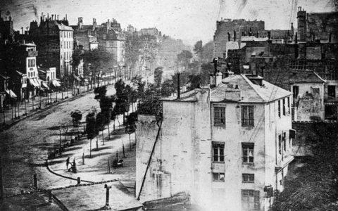 Η πιο παλιά φωτογραφία με ανθρώπους, Παρίσι 1837