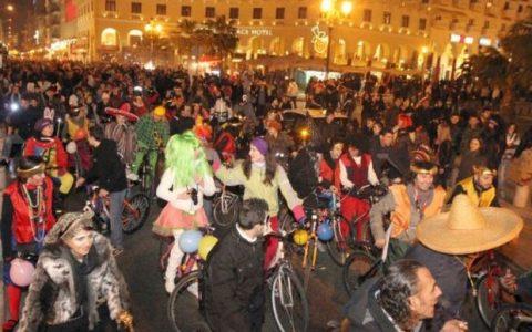 Τσικνοπέμπτη και ποδηλατικό καρναβάλι Θεσσαλονίκης 2014, το βίντεο