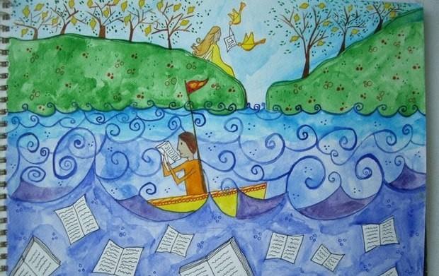 Καλλιτέχνης: Στεφανία Βελδεμίρη (από το Κίτρινο Παραμύθι του Κώστα Στοφόρου)