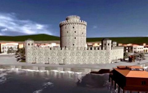 3D Αναπαράσταση του Λευκού Πύργου, αρχές 20ου αιώνα