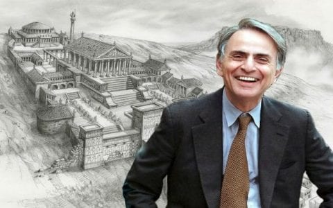 O Καρλ Σαγκάν για την ιστορία και τον χώρο της Βιβλιοθήκης της Αλεξάνδρειας