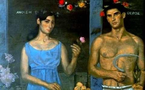 Καλλιτέχνης: Γιάννης Τσαρούχης (λεπτομέρεια)