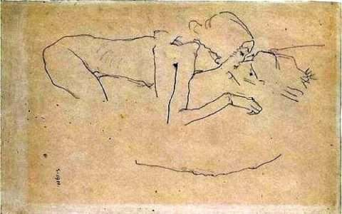 The Kiss - by Egon Schiele