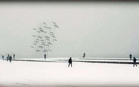 Χιονισμένη Θεσσαλονίκη 2017: ένα εξαιρετικό video