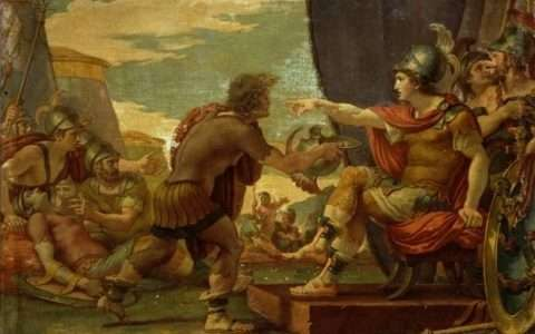 Giuseppe Cades, Alexander the Great Refuses to Take Water