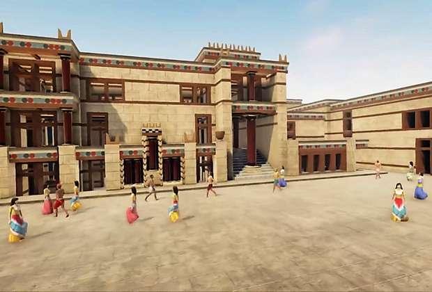 Το παλάτι της Κνωσού σε μια εκπληκτική τρισδιάστατη απεικόνιση
