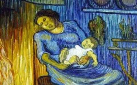 Artist: Vincent van Gogh, Man is at Sea