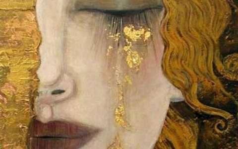 Artist: Gustav Klimt, Golden Tears