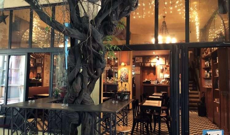 Cafe Bazaar, παριζιάνικο στυλ, έθνικ γεύσεις