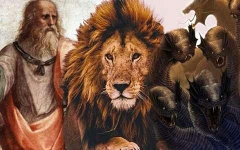 Ο άνθρωπος, το λιοντάρι και το τέρας