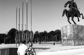 ©Foivos Papageorgiou: στο άγαλμα του Μεγάλου Αλεξάνδρου