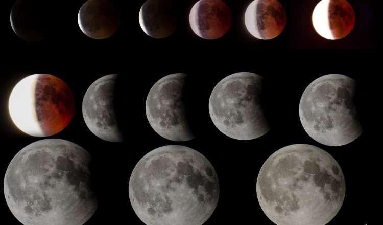 """Το """"κόκκινο"""" φεγγάρι φωτογραφημένο από 15 φωτογράφους στη Θεσσαλονίκη!"""