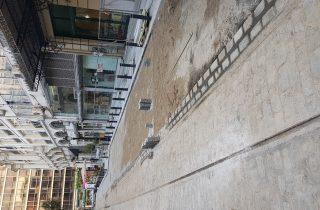 Από την πρόσφατες εργασίες ανάπλασης της οδού Αγίου Μηνά.