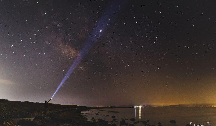 Αγγελοχώρι, ο γαλαξίας και ο Δίας και ποίηση Νικηφόρου Βρεττάκου