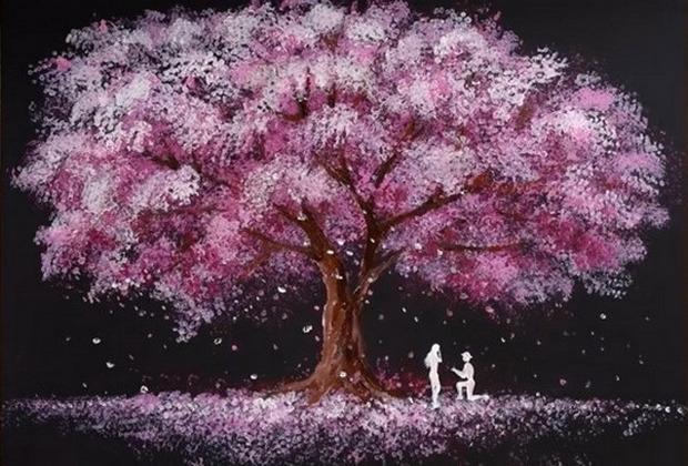 Μάθετε πως να ζωγραφίσετε έναν ρομαντικό πίνακα σε μόλις 5'!
