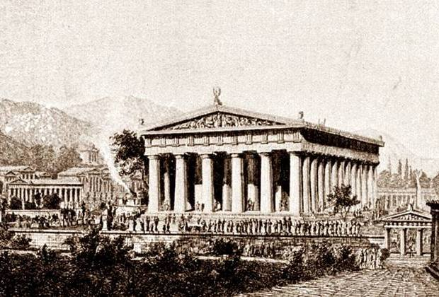 Ο ναός του Διός στην Ολυμπία