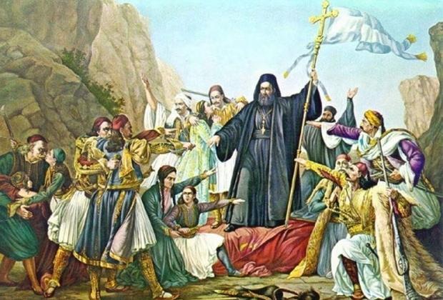 Παλαιών Πατρών Γερμανός Γ΄: Η ομιλία του στην έναρξη της Ελληνικής Επανάστασης στην Αγία Λαύρα