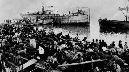 Οι πρώτοι πρόσφυγες από τη Σμύρνη που φτάνουν στην Καλαμαριά